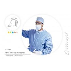 Bata Cirúrgica Reforçada, Esterilizada, com Duas Toalhas de Mão Ref 12001
