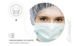 50 Mascaras de 3 Dobras Polipropileno Descartavel Verde c Elastico