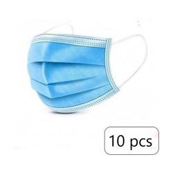 Pack 10 Mascaras Descartáveis Azuis