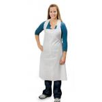 Descartaveis - Avental Descartável em Polietileno Rubbergold Branco ou Azul 25 Microns Caixas com 100 Peças Ref.6010/11