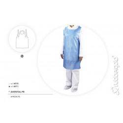 Avental Descartável em Polietileno Rubbergold Branco ou Azul 25 Microns Caixas com 100 Peças Ref.6010/11