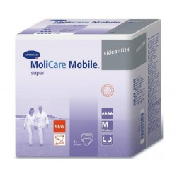 Cueca MoliCare Mobile ideal fit Super Saco com 14 unidades