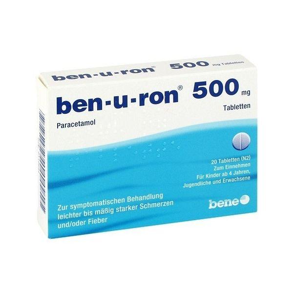 Ben-U-Ron 500mg 20 Comprimidos